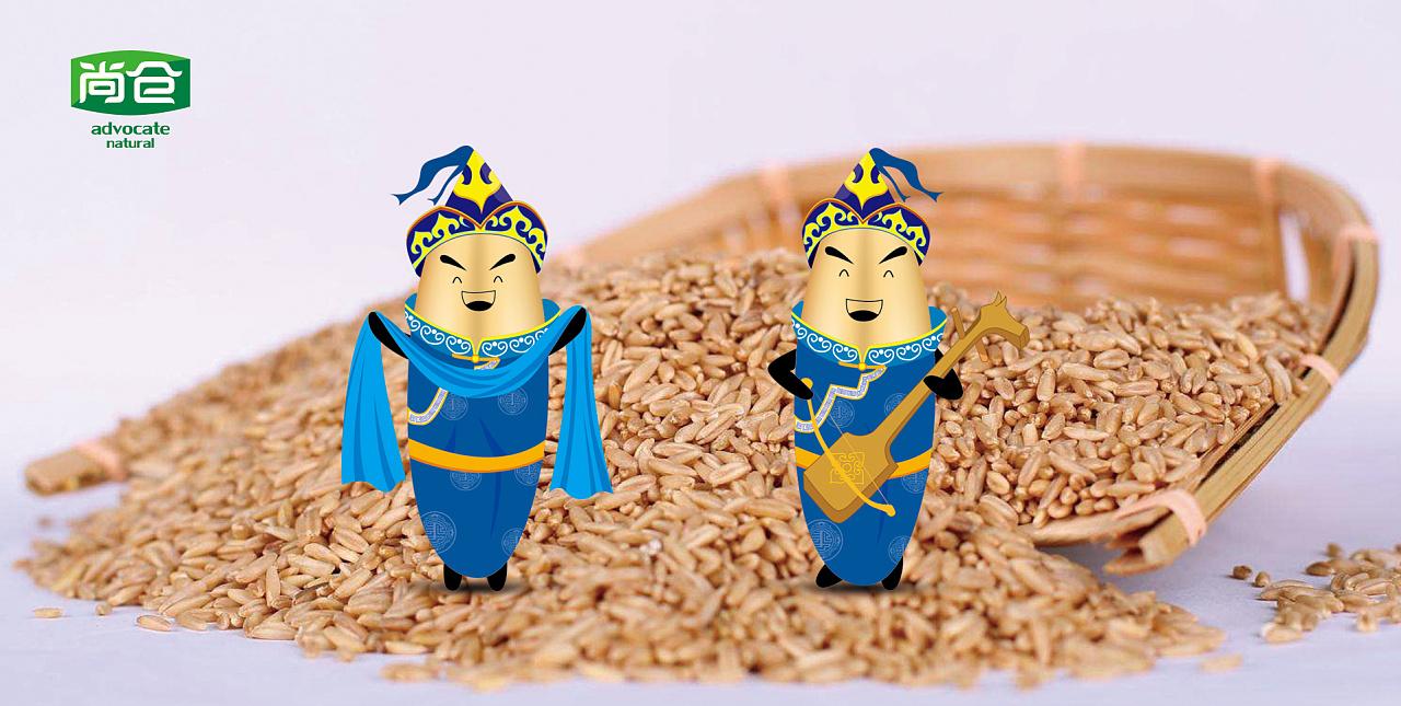 一是反映尚仓的产地——内蒙古,通过蒙古族特有的花纹,服饰等体现;二图片