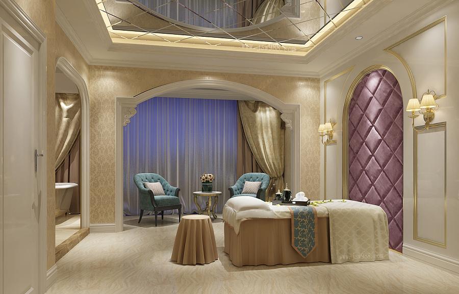 美容院装修设计欧式美疗房效果图