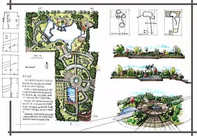 评分标准 5.设计方法 二.景观平面图上色步骤:公园茶室景观设计 三.
