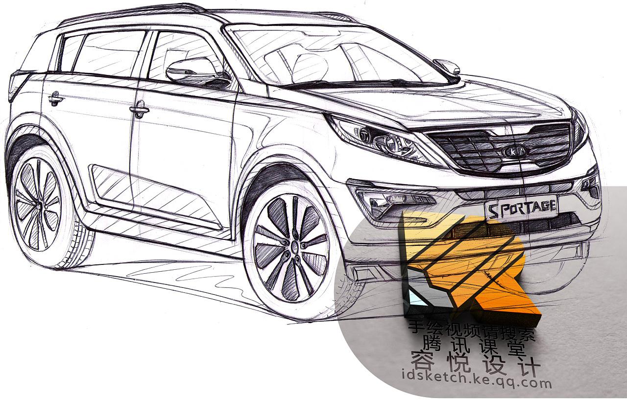 工业产品设计交通工具设计容悦设计汽车设计手绘线稿
