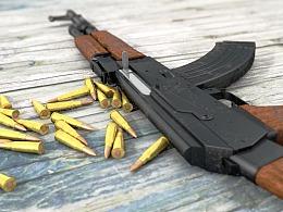 C4D建模渲染练习-AK47
