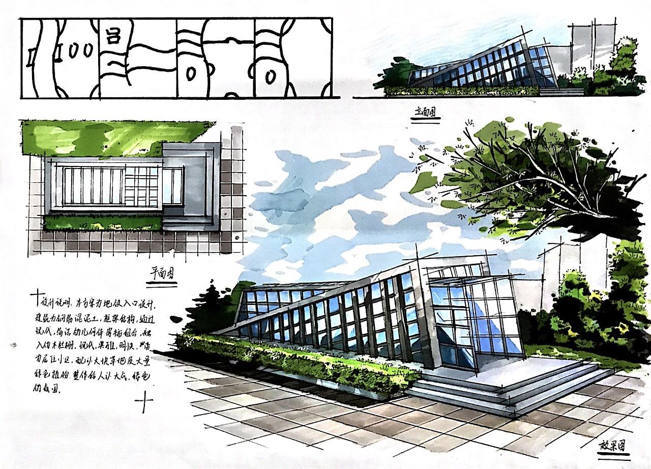 一些手绘快题|空间|建筑设计|summer刘 - 原创作品