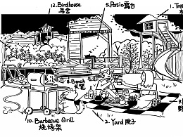 APP English teaching illustration