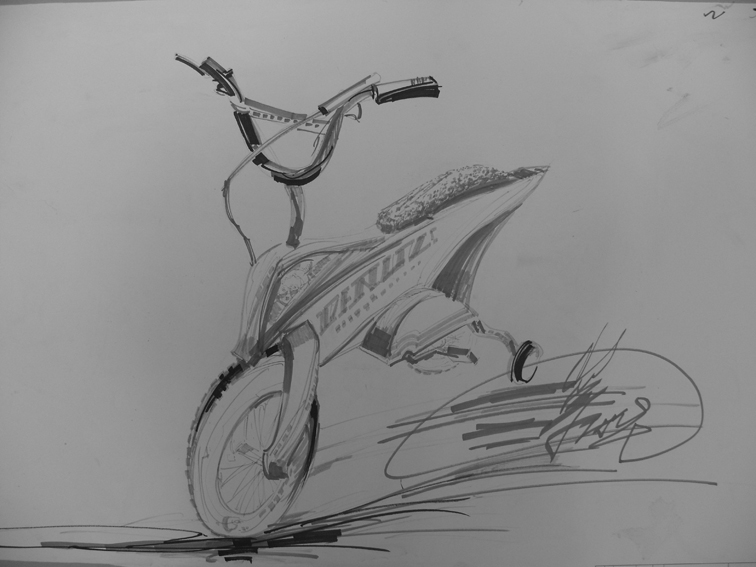 儿童自行车造型手绘效果图2