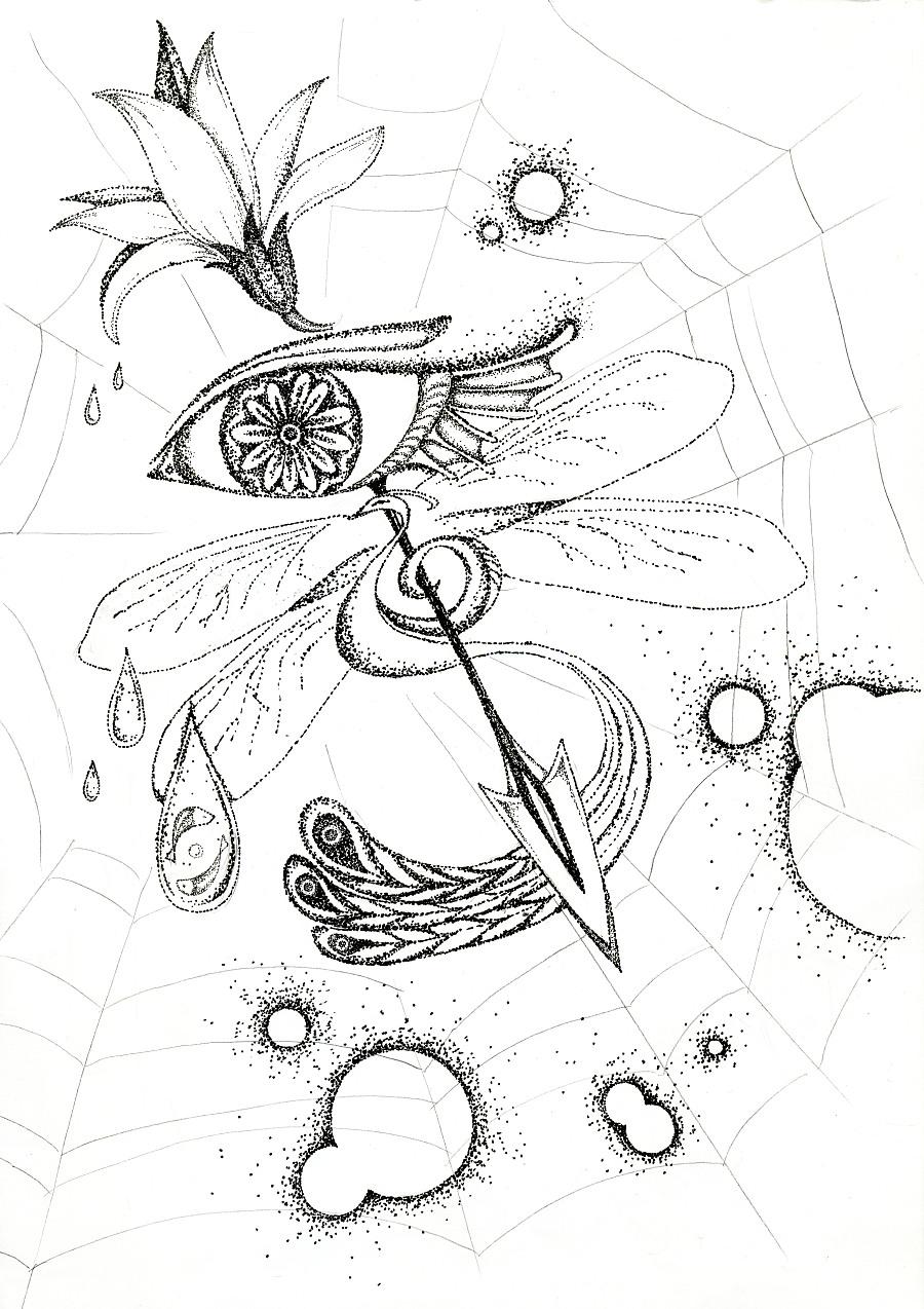 手绘插画| 黑白点阵|涂鸦/潮流|插画|griffin
