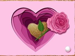 情人节唯美浪漫玫瑰花壁纸