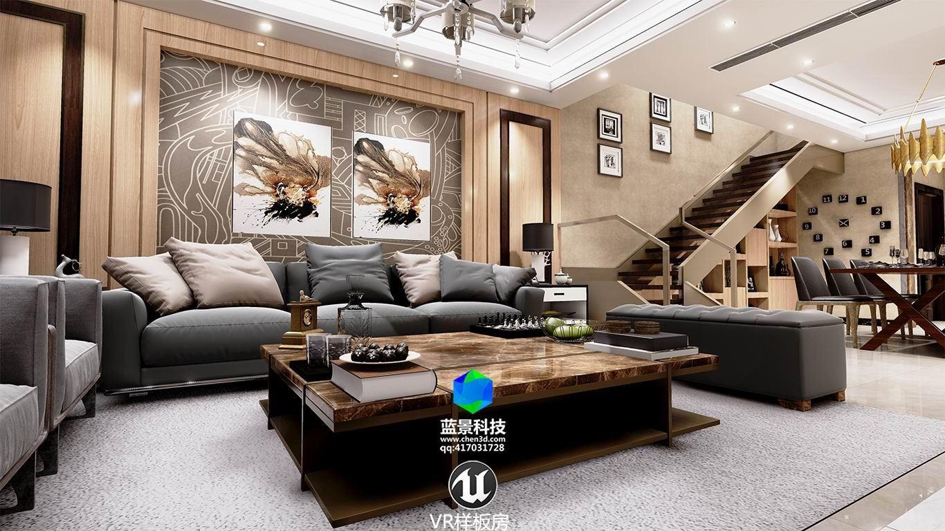室内虚拟现实 ue4制作 vr|空间|室内设计|蓝景科技vr图片