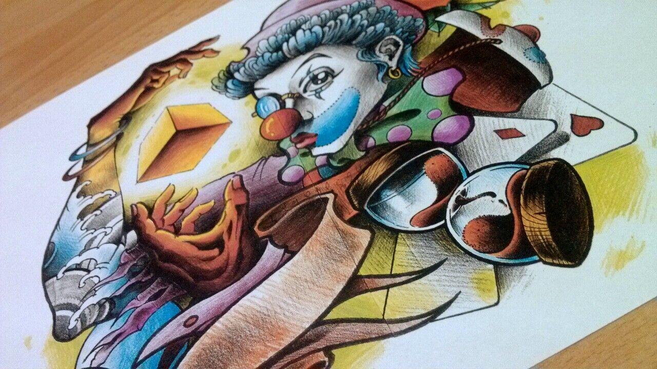 纹身手稿——又一只小丑