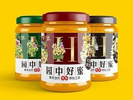 善行研创—园中好蜜品牌视觉符号蜂蜜包装设计