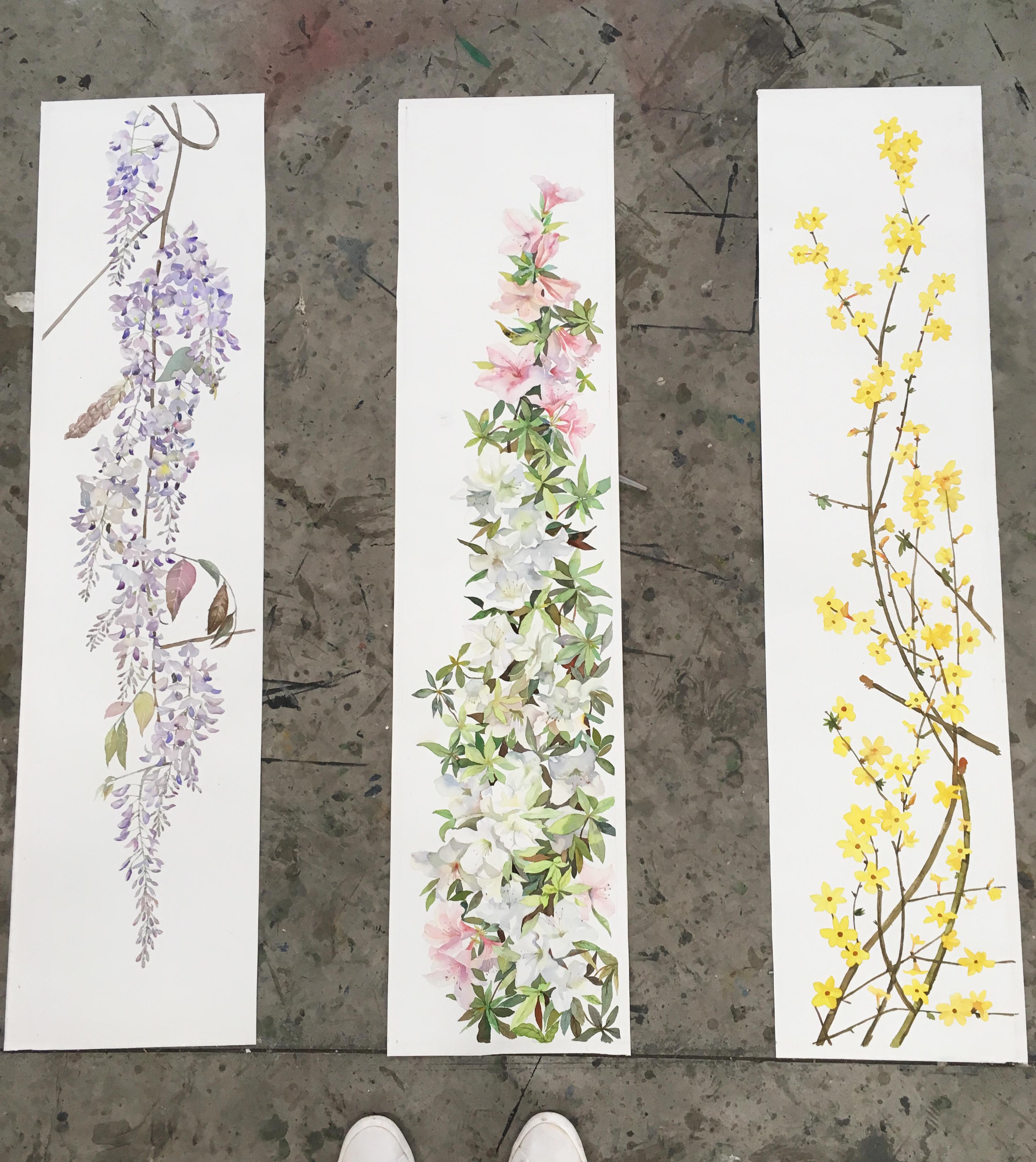 水彩花卉,装饰画