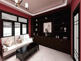 室内设计_新中式书房