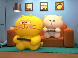 蛋黄猫玩游戏