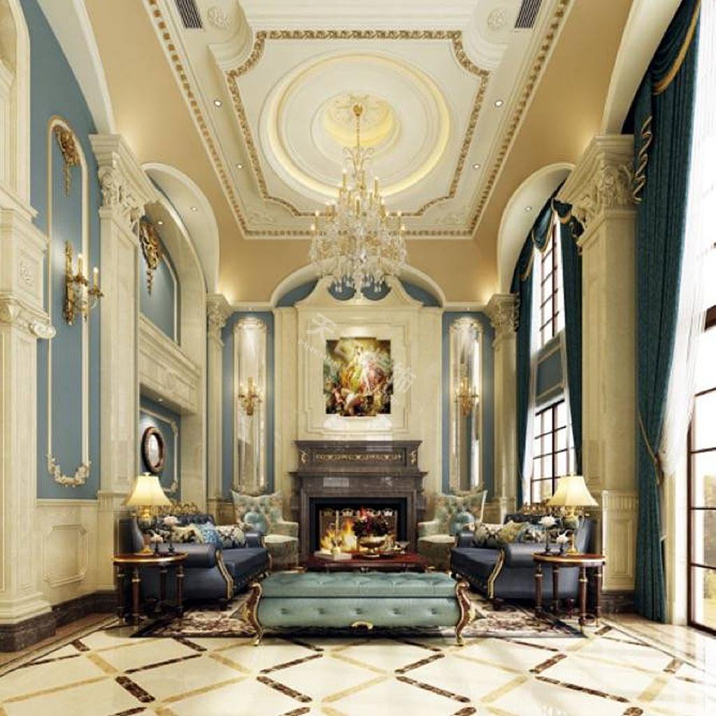 融创凡尔赛装修,凡尔赛独栋别墅装修|法式风格效果图