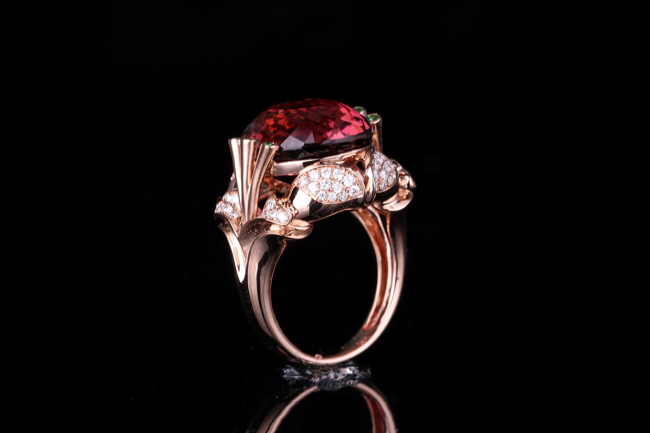 【蚂蚁创意镶嵌】 蚂蚁创意珠宝工作室 碧玺镶钻款图片