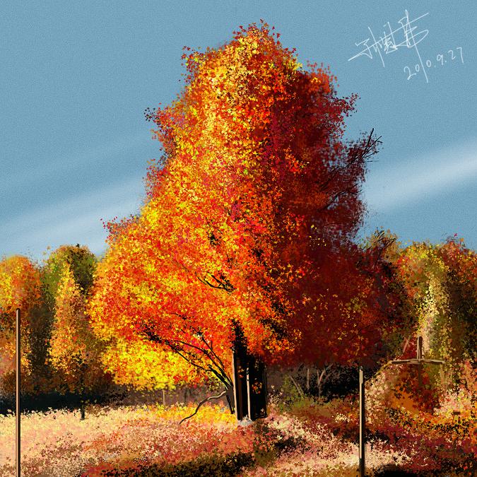 风景画-秋天