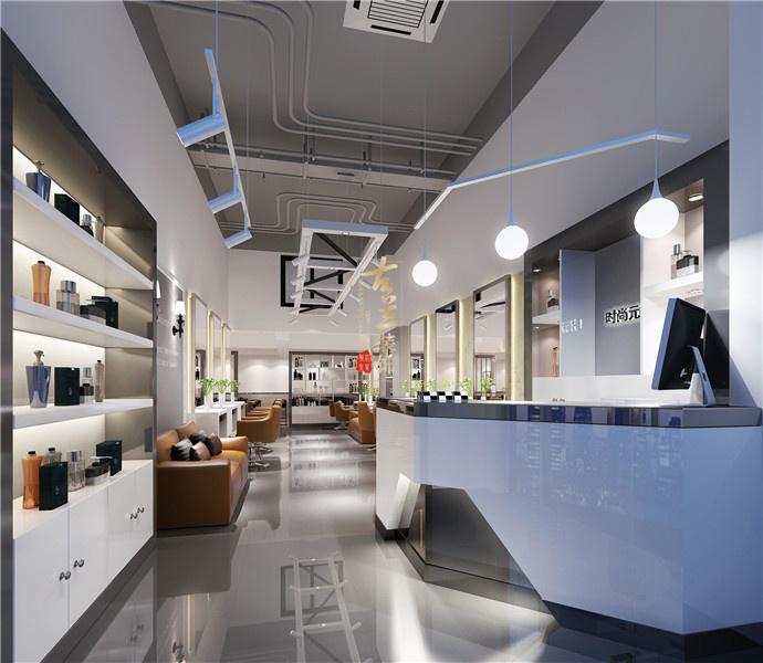 成都美发店设计 成都美发店装修 古兰装饰-龙城图片