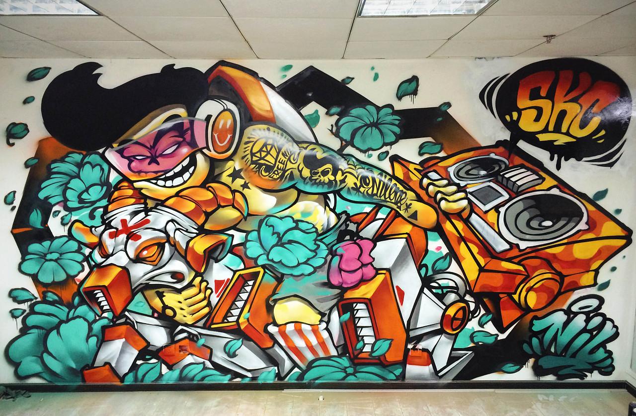 xmark涂鸦工作室近期的涂鸦作品小合集图片