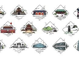 北京印象插画设计