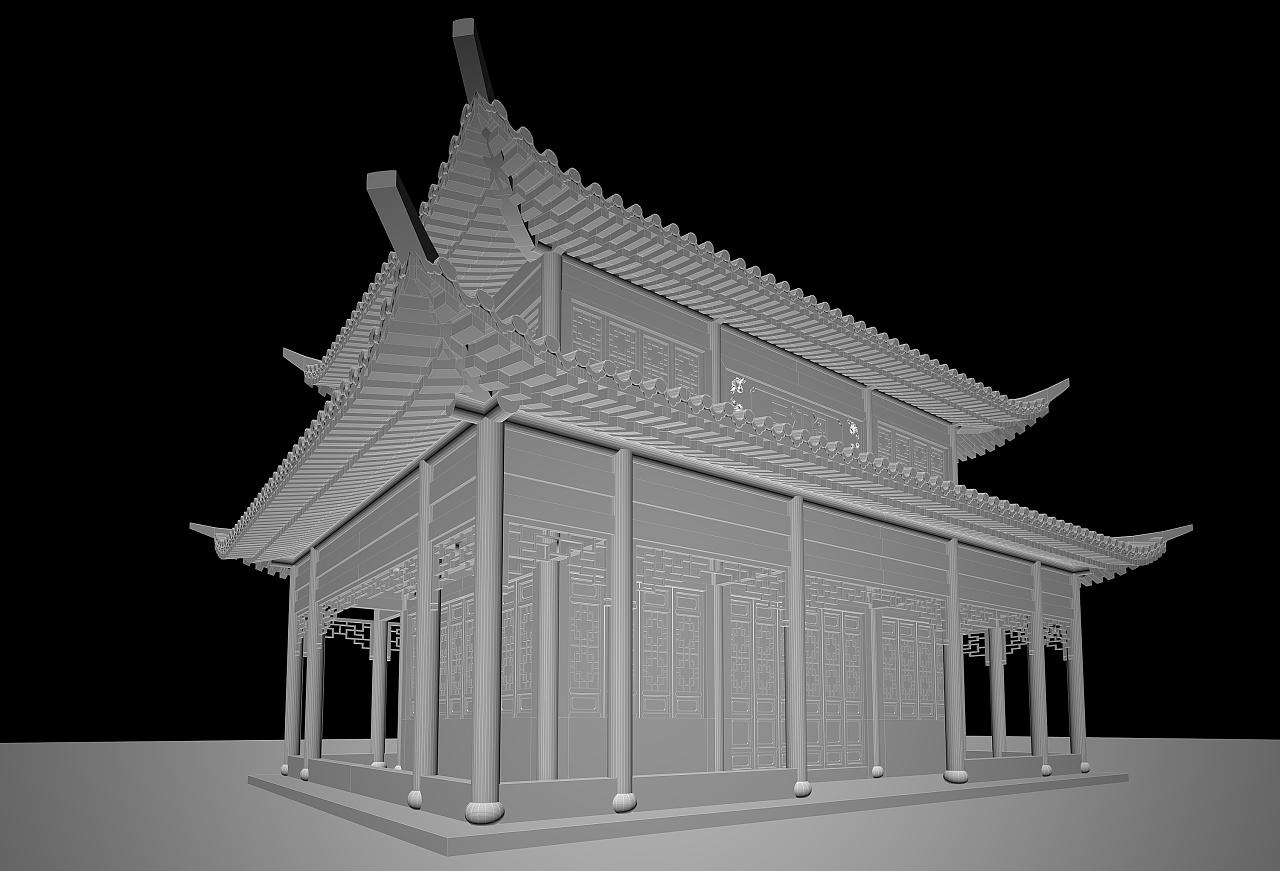 古建重檐歇山顶楼阁
