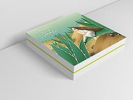 植物护肤品包装设计插画