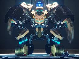 """王者荣耀 × 工匠社 联合打造""""人机合一""""的盾山机器人"""