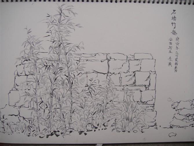 我的河南安阳毛笔写生作业图片