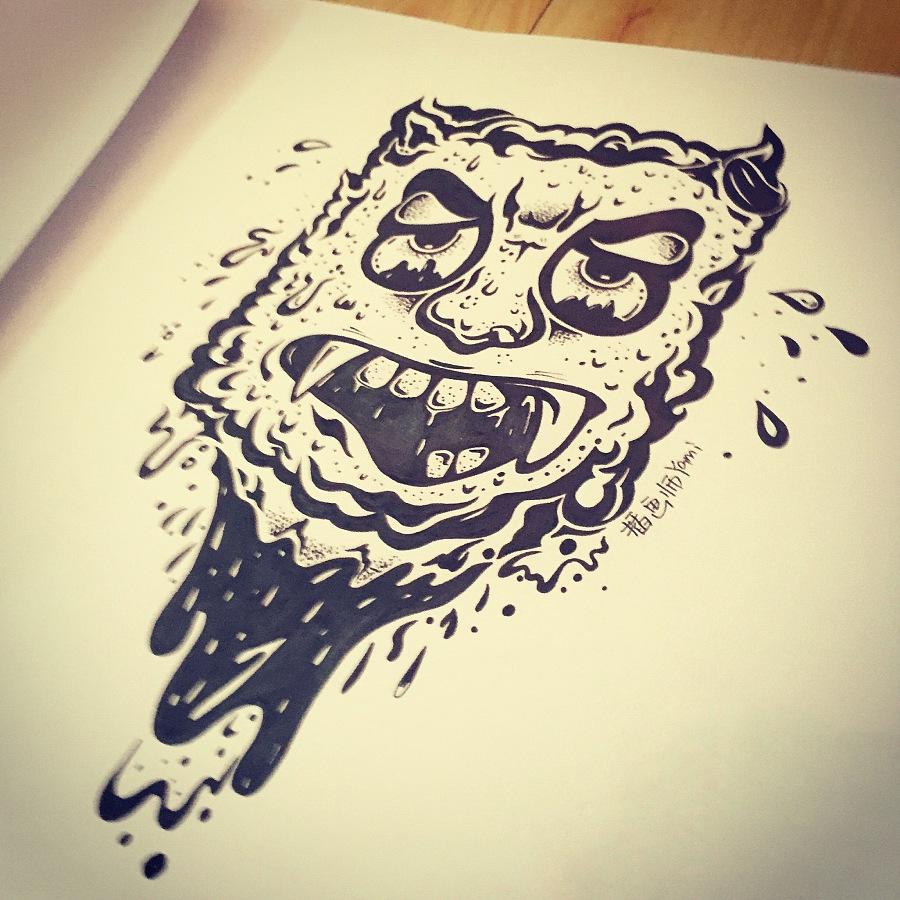 纹身手稿原创设计