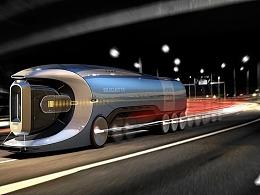 未来概念卡车设计,科技感十足!