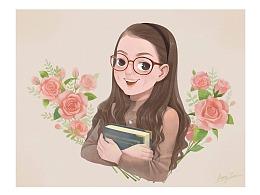 女孩儿与玫瑰