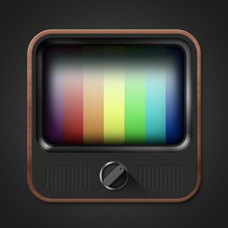 一枚老式电视机图标