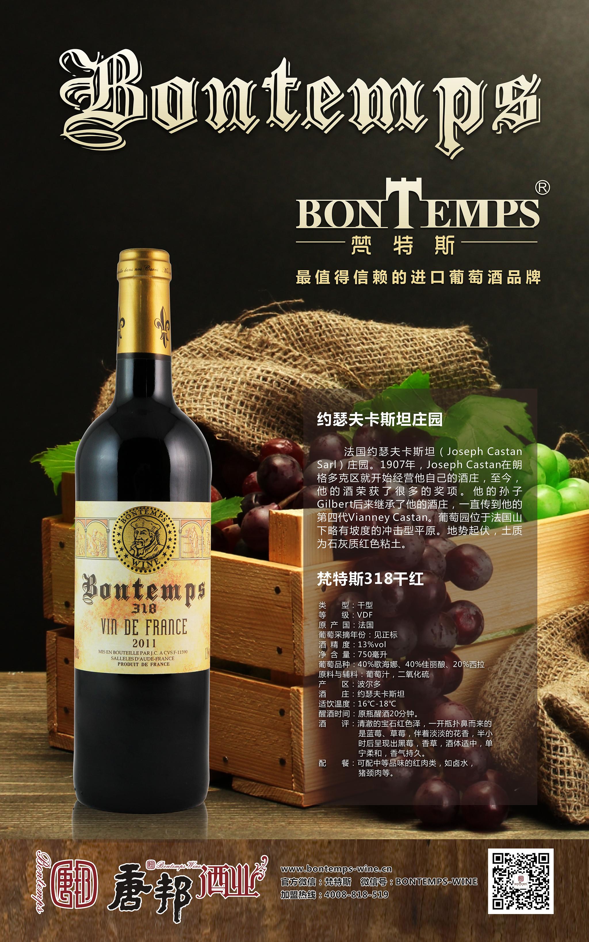 2013 法国 智利 葡萄酒海报 joe