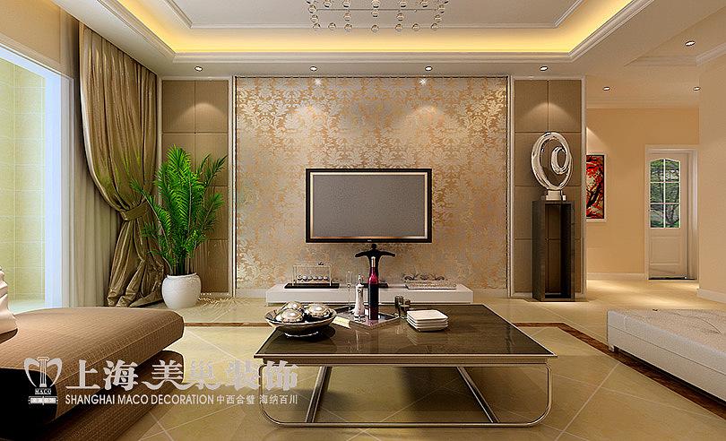 升龙又一城135平三室两厅装修现代简约案例效果图——电视背景墙