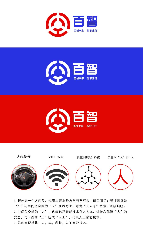 百度无人驾驶汽车logo-人·车·科技(三)|标志|平面