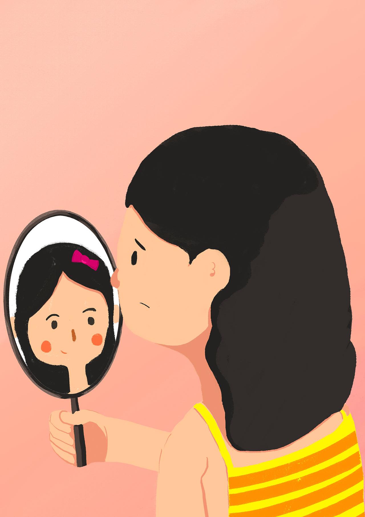 美便是从一面镜子里看到自己面容时脸上的笑意图片