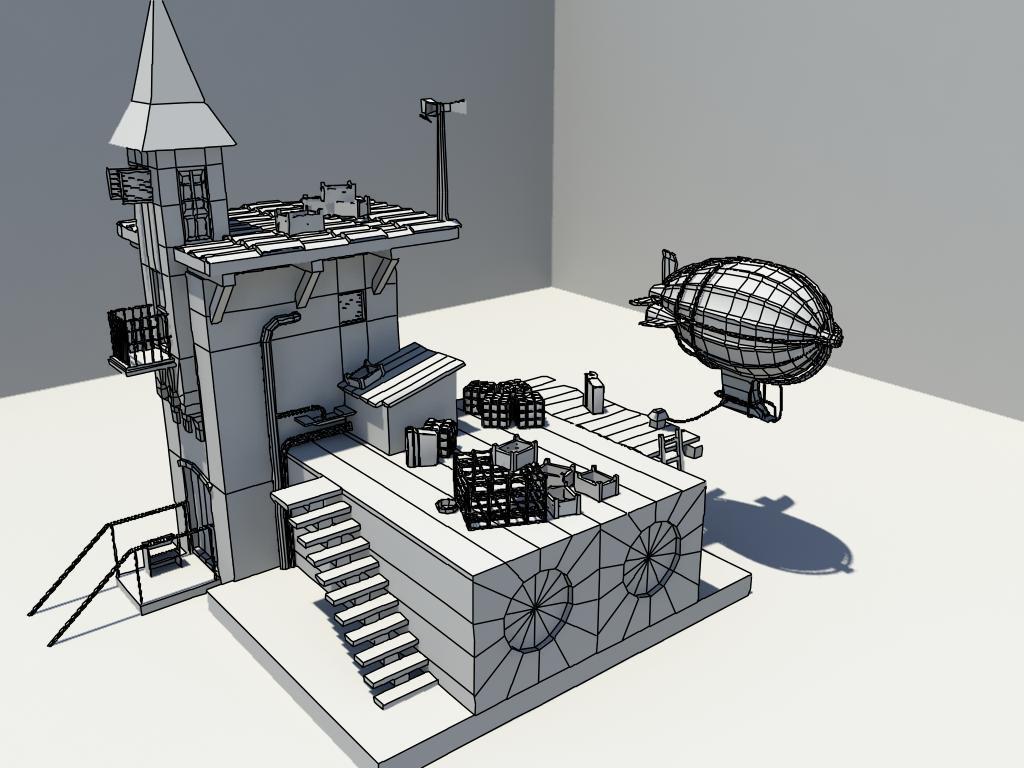 maya建模|三维|场景|vendesign - 原创作品 - 站酷图片