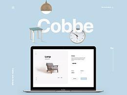 Cobbe 家具&家居官网首页设计Web&ipads Show details