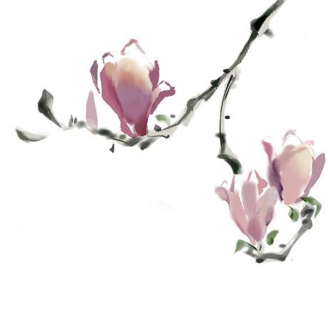 工笔人物(手绘板练习)|绘画习作|插画|爱艺鸣