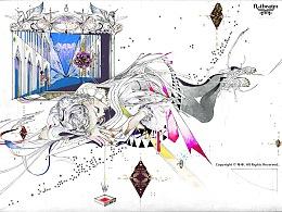 「夢見市-Cypher's Chapel」 003 (细节图+线稿)