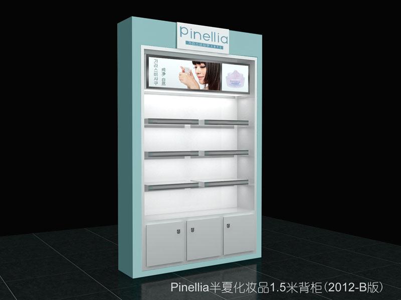 5米背柜(2012年版)展柜 化妆品展柜设计 韩国半夏化妆品展柜设计