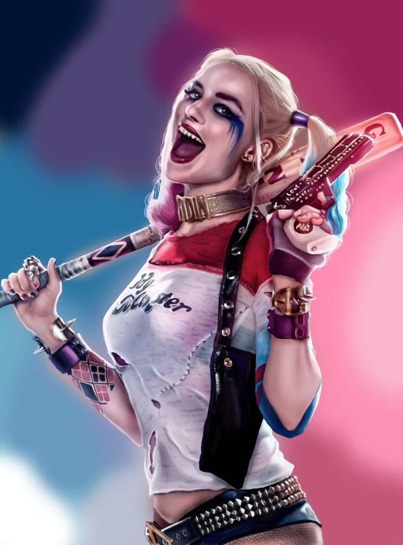 小丑女- 哈莉·奎茵插画 商业插画 插画 爆体而