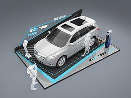 长安汽车CS75新能源汽车商超定展效果图