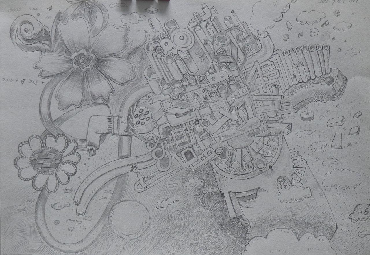 和王东晟老师学铅笔画的练习