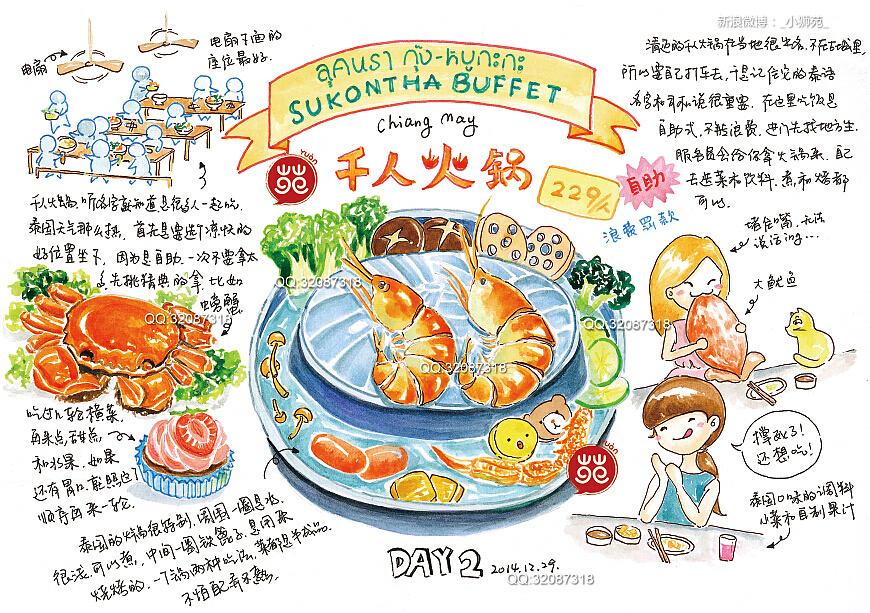 北京火锅涂鸦手绘素材