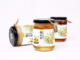 蜂蜜包装瓶签