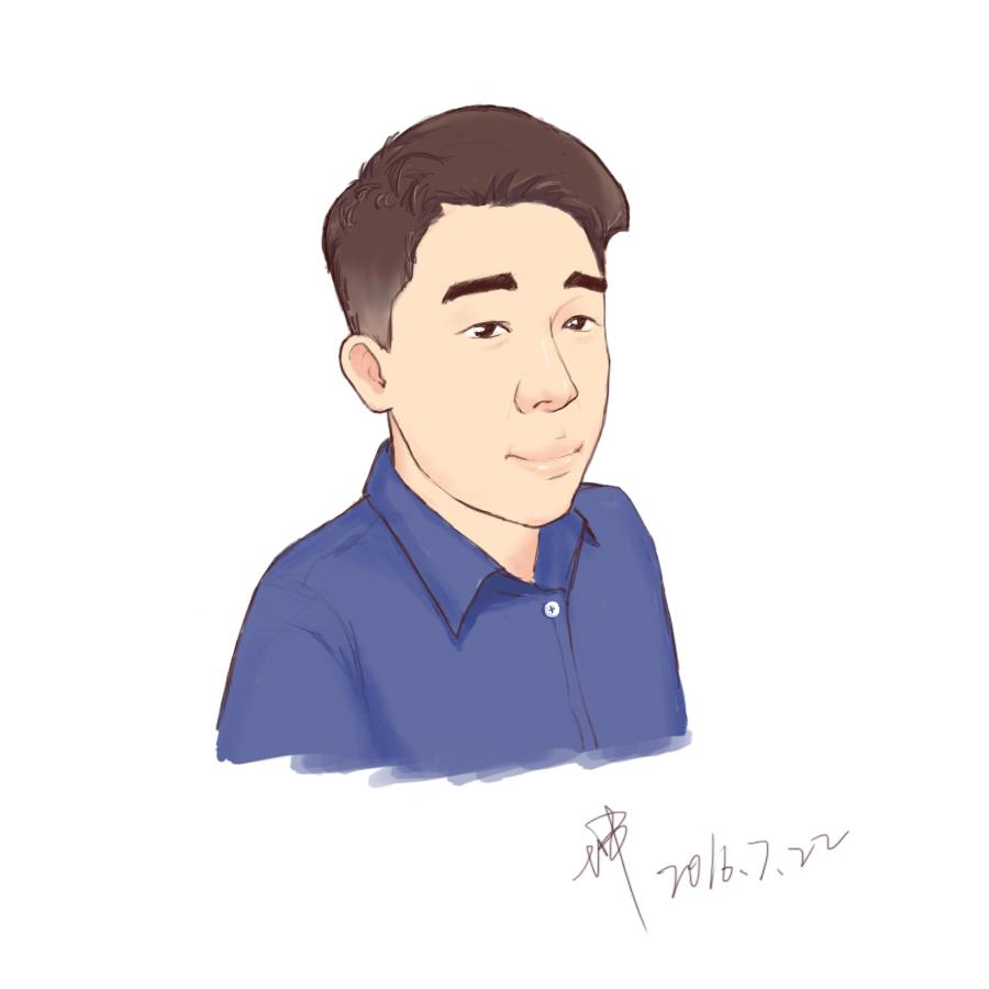 最近练习手绘板,很早就想给自己画个头像