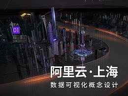 阿里云上海城市数据可视化概念设计稿