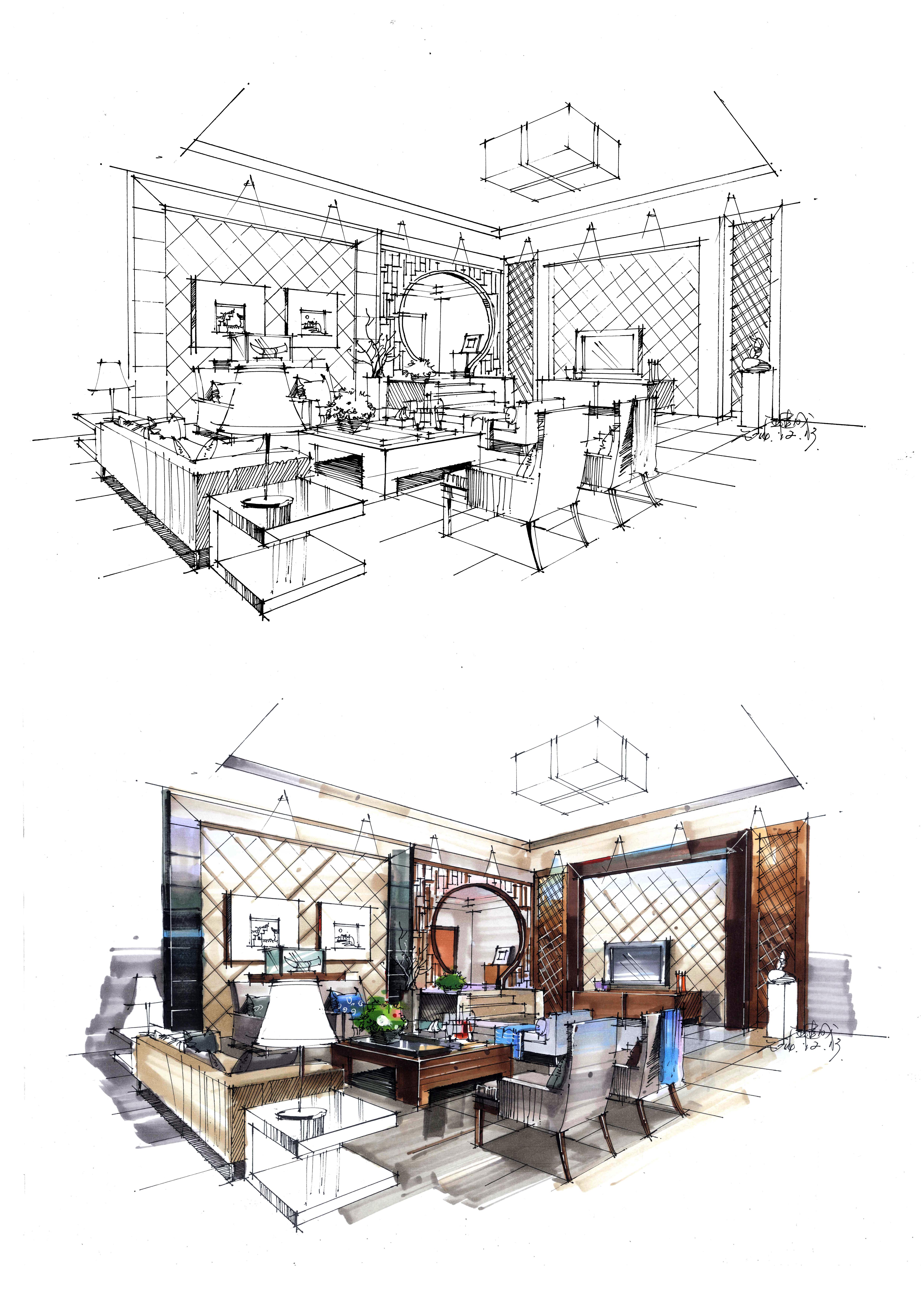 室内效果图|空间|舞台美术|汪建成 - 原创作品 - 站酷