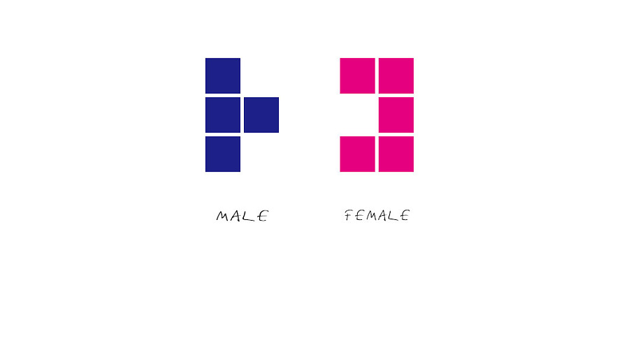 wc男女标志设计|标志|平面|哈哈哈不停 (900x484)-图标 标志 标签