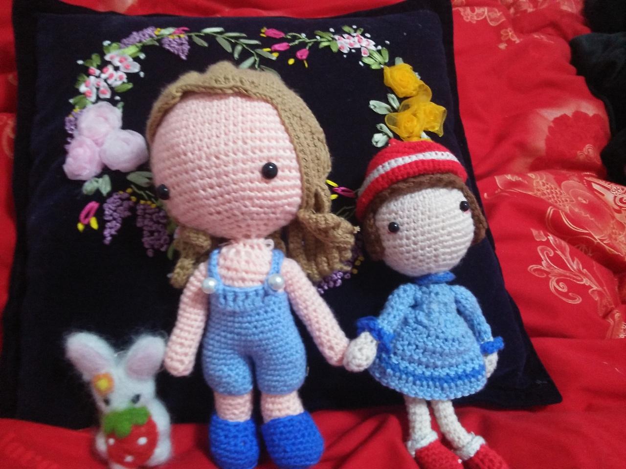 我的手工——编织娃娃(二)