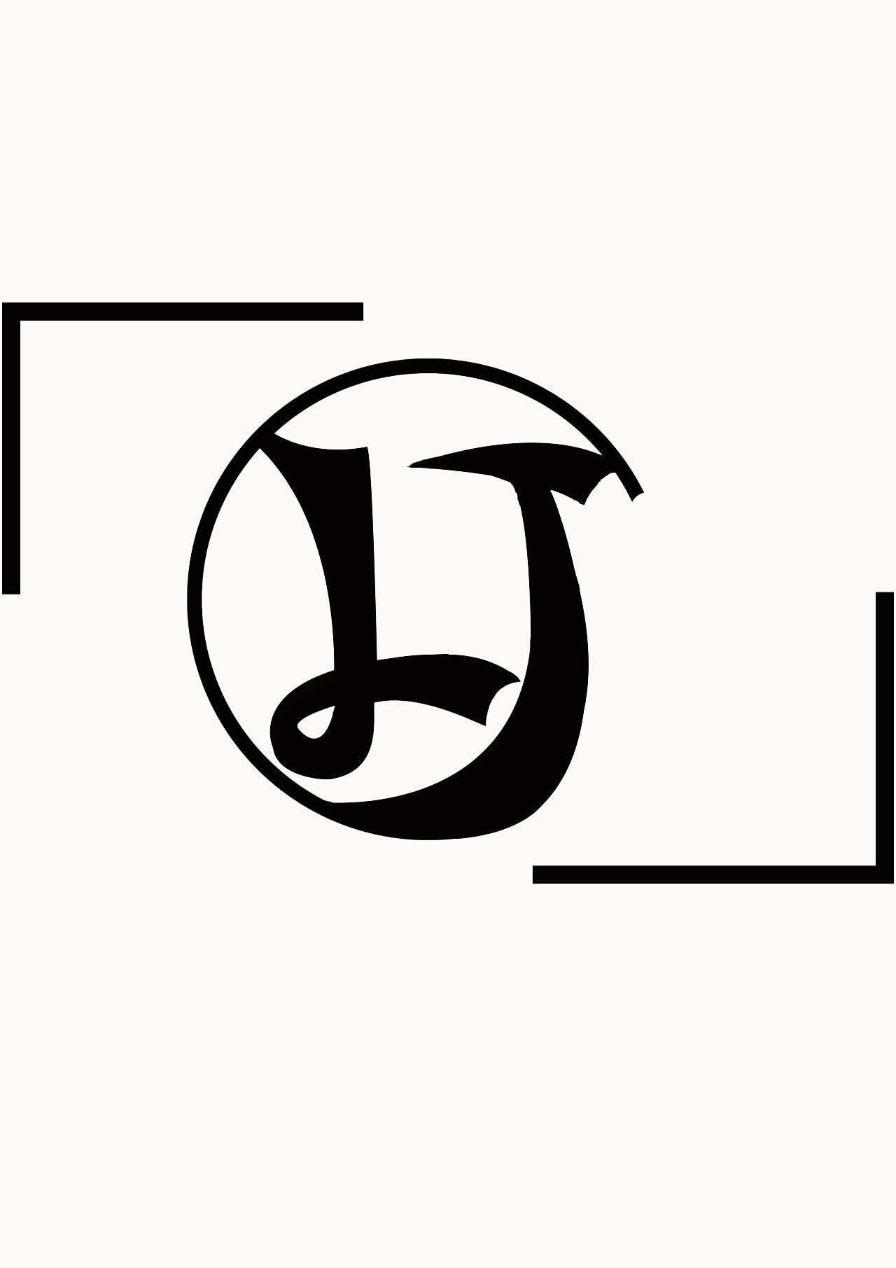 以自己名字的首字母来进行设计的一个logo图片